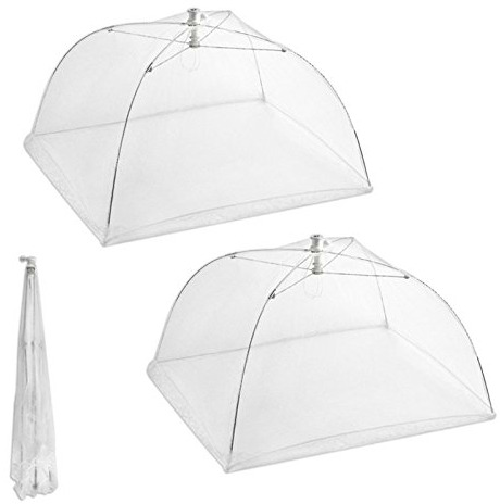 Set 2 Pop Up Food Screen Tents