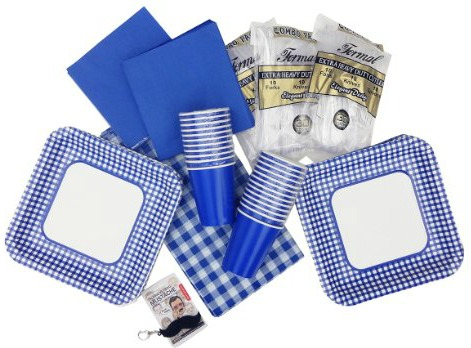 Blue Gingham Party Set