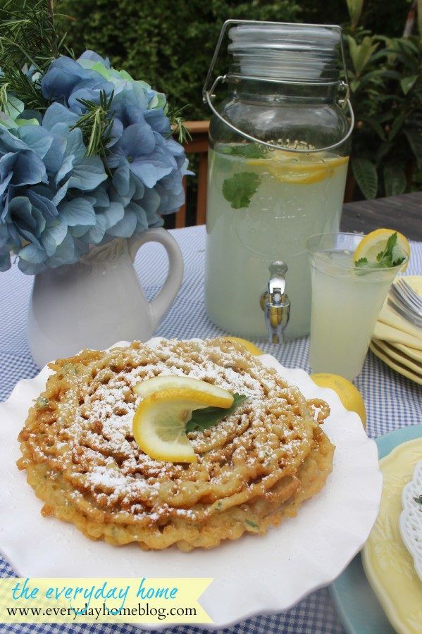Homemade Lemon Mint Funnel Cakes | The Everyday Home | www.everydayhomeblog.com