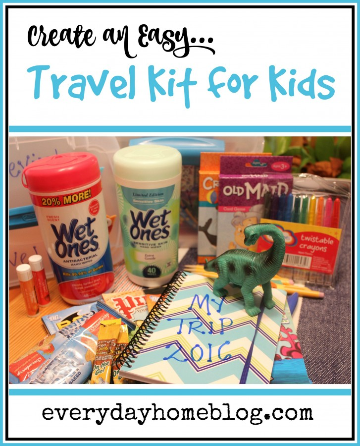 Create a DIY Travel Kit for Kids | The Everyday Home www.everydayhomeblog.com