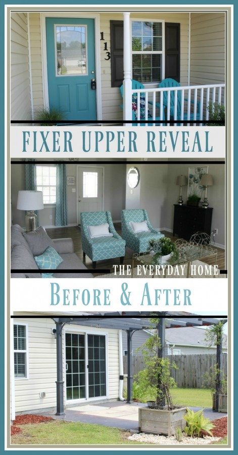 Fixer Upper Reveal | Before and After | The Everyday Home | www.everydayhomeblog.com