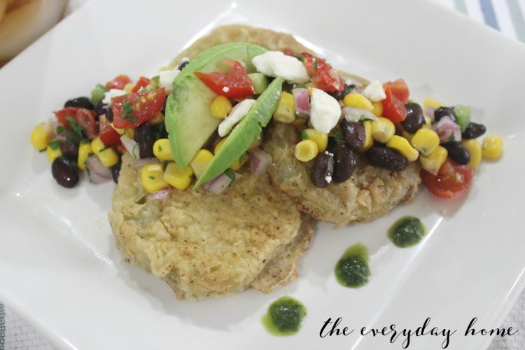 Fried Green Tomaoes with Summer Salsa | The Everyday Home | www.everydayhomeblog.com