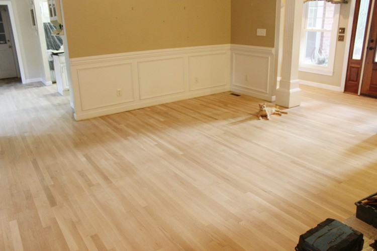 Living Room Floor Refinished Before | The Everyday Home | www.everydayhomeblog.com
