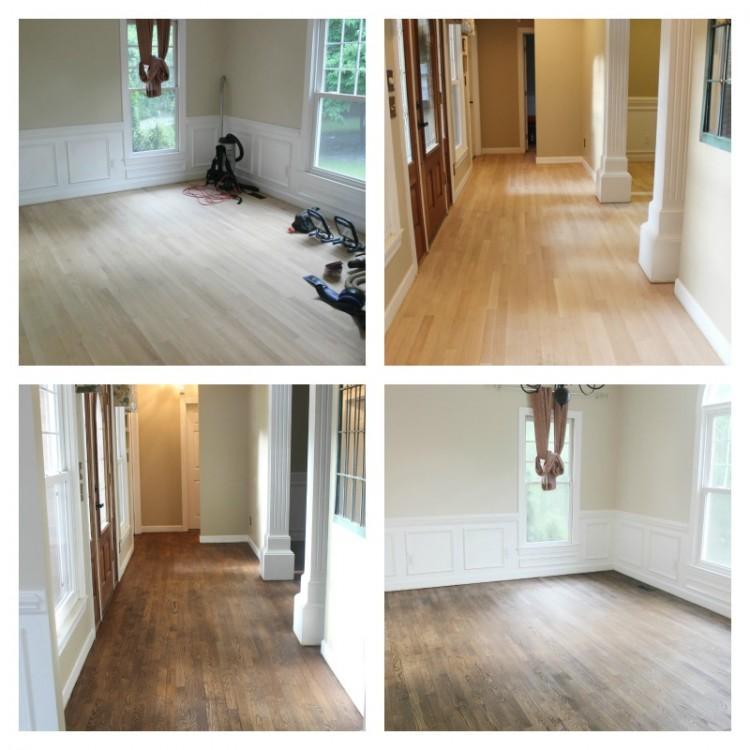 refinishing wood floors before u0026 after