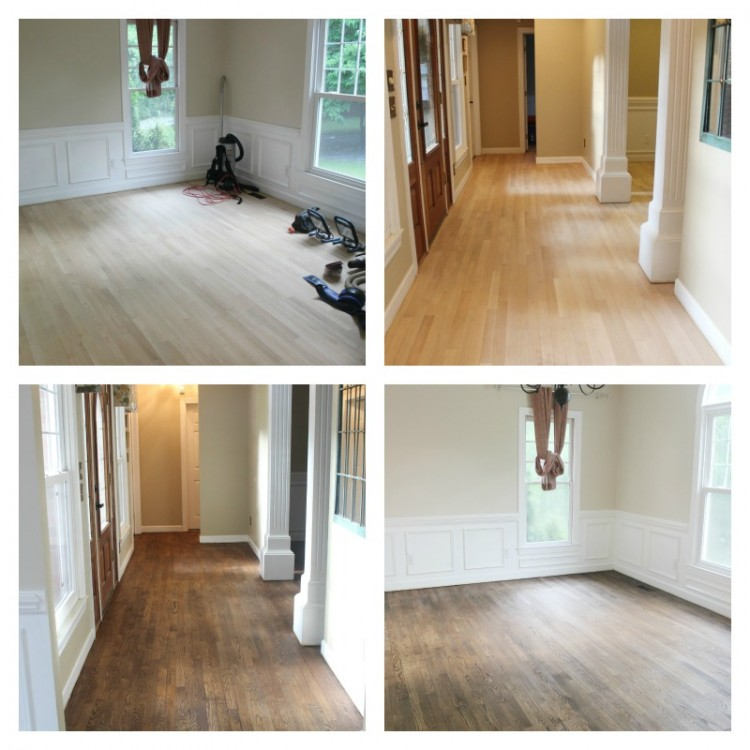 Refinishing Wood Floors Before & After