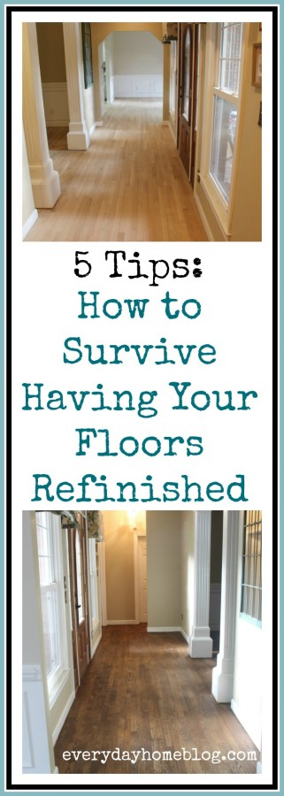 Tips for Surviving Having Your Wood Floors Refinished | The Everyday Home