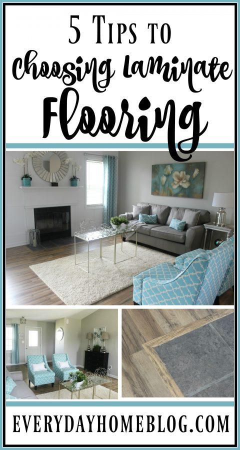 5 Tips to Choosing Laminate Flooring | The Everyday Home | www.everydayhomeblog.com