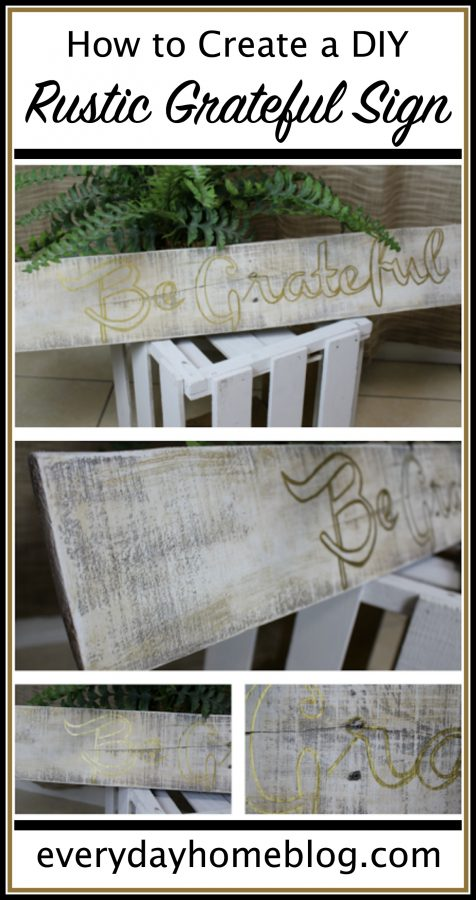 How to Create a DIY Rustic Sign | The Everyday Home | www.everydayhomeblog.com