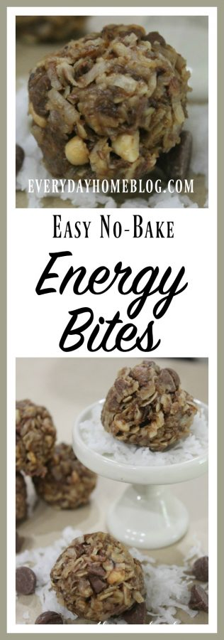 How to Make Easy No Bake Energy Bites | The Everyday Home | www.everydayhomeblog.com