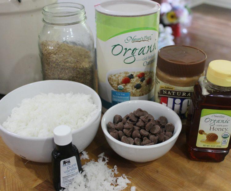 Ingredients for No Bake Energy Bites | The Everyday Home | www.everydayhomeblog.com