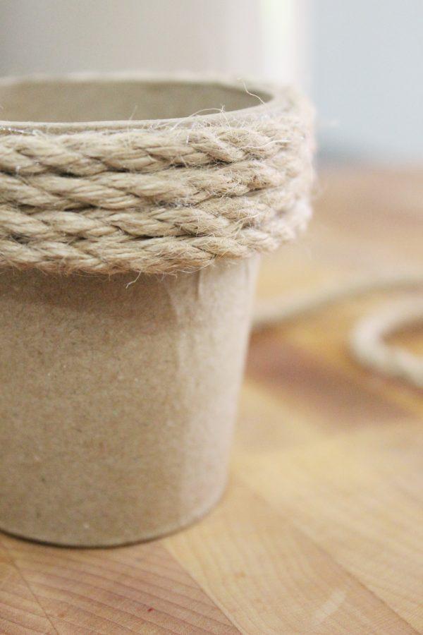 Jute Wrapped Pot | The Everyday Home | www.everydayhomeblog.com