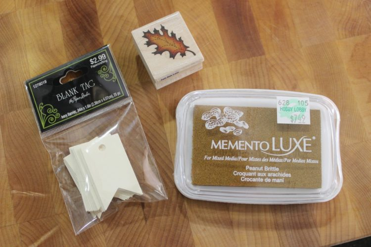Leaf Stamping Supplies | the Everyday Home | www.everydayhomeblog.com