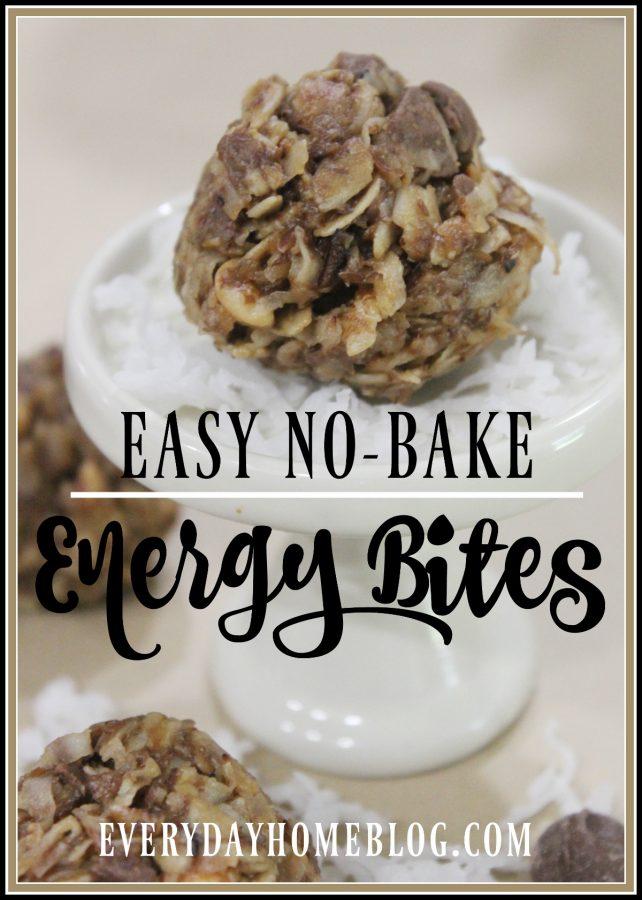 No Bake Energy Bites | Everyday Home Blog | www.everydayhomeblog.com