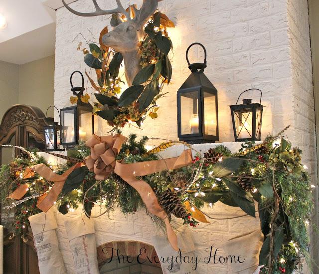 French-Country-Christmas-Mantel | The Everyday Home | www.everydayhomeblog.com