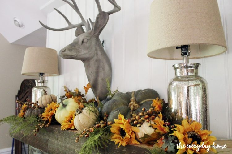 a-rustic-fall-mantel | The Everyday Home | www.everydayhomeblog.com