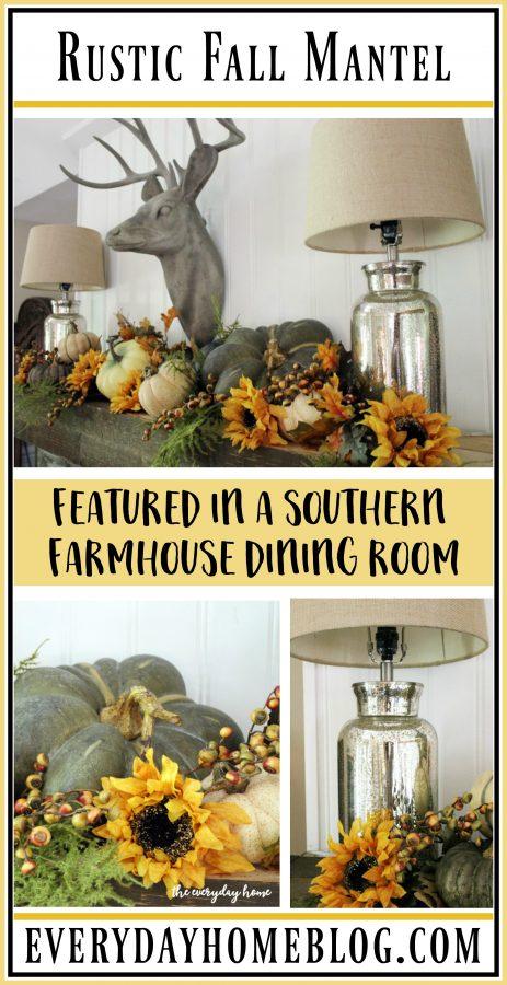 a-southern-farmhouse-rustic-fall-mantel | The Everyday Home | www.everydayhomeblog.com