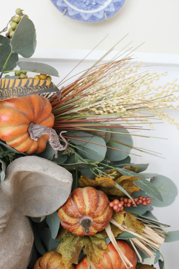adding-floral-picks-to-update-a-wreath | the everyday home | www.everydayhomeblog.com