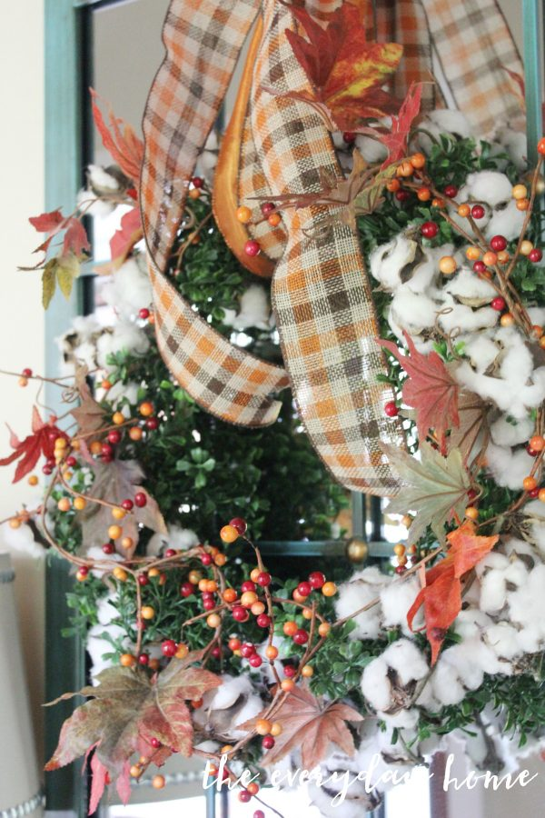 berry-and-cotton-wreath | The Everyday Home | www.everydayhomeblog.com