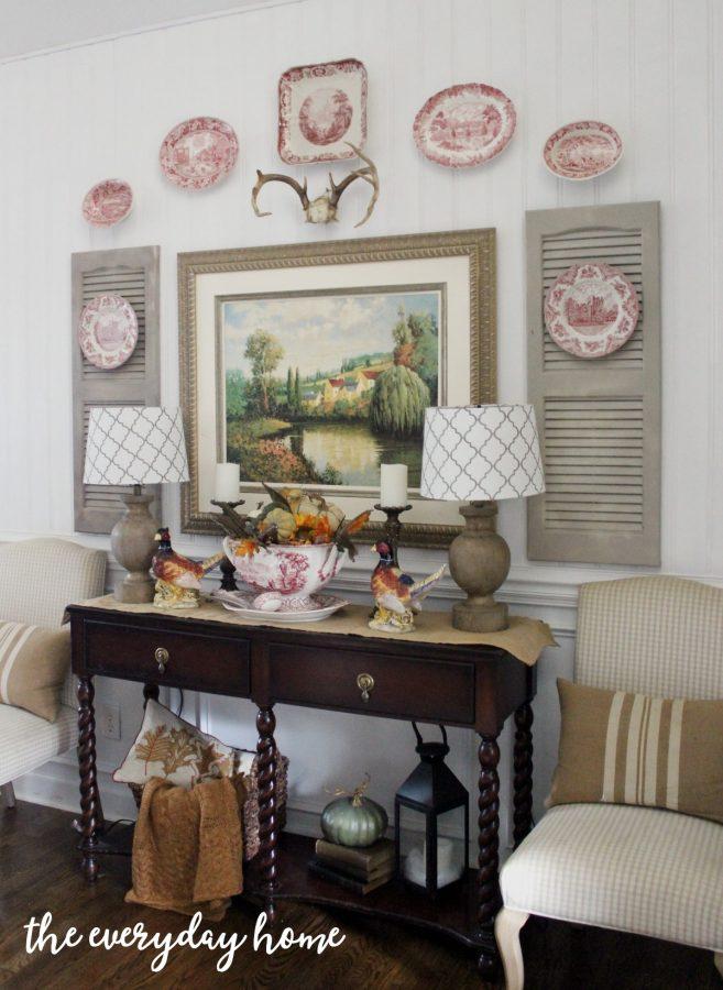 dining-room-buffet-for-fall | The Everyday Home | www.everydayhomeblog.com