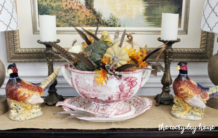 dining-room-buffet-for-fall-vignette | The Everyday Home | www.everydayhomeblog.com