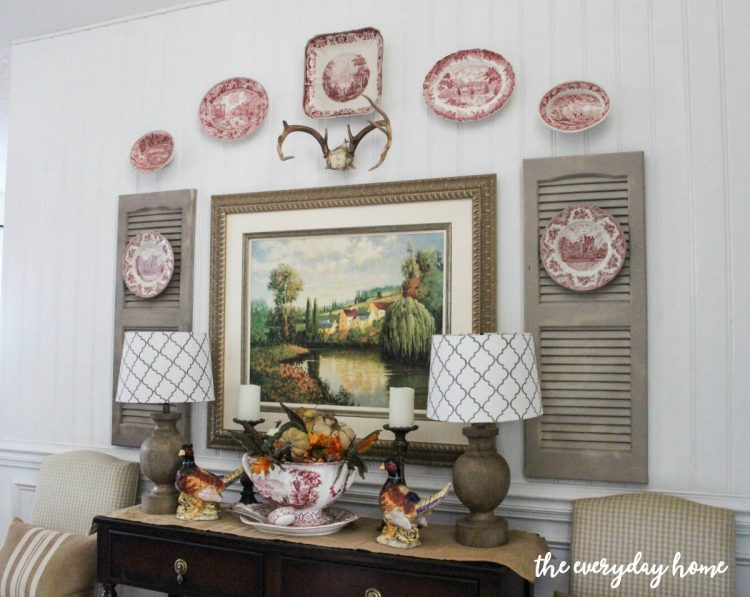 fall-buffet-in-dining-room | The Everyday Home | www.everydayhomeblog.com