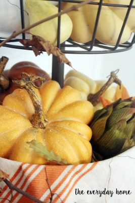 How to Style a Tiered Stand for Fall