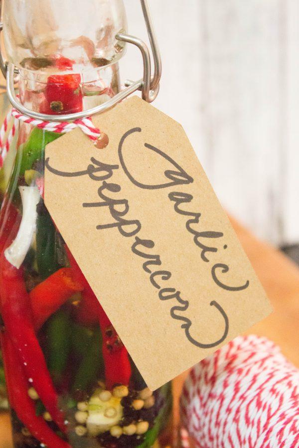 garlic-peppercorn-pepper-vinegar | The Everyday Home | www.everydayhomeblog.com