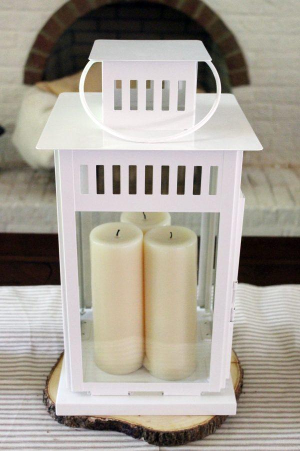 Plain-White-Ikea-Lantern | The Everyday Home | www.everydayhomeblog.com