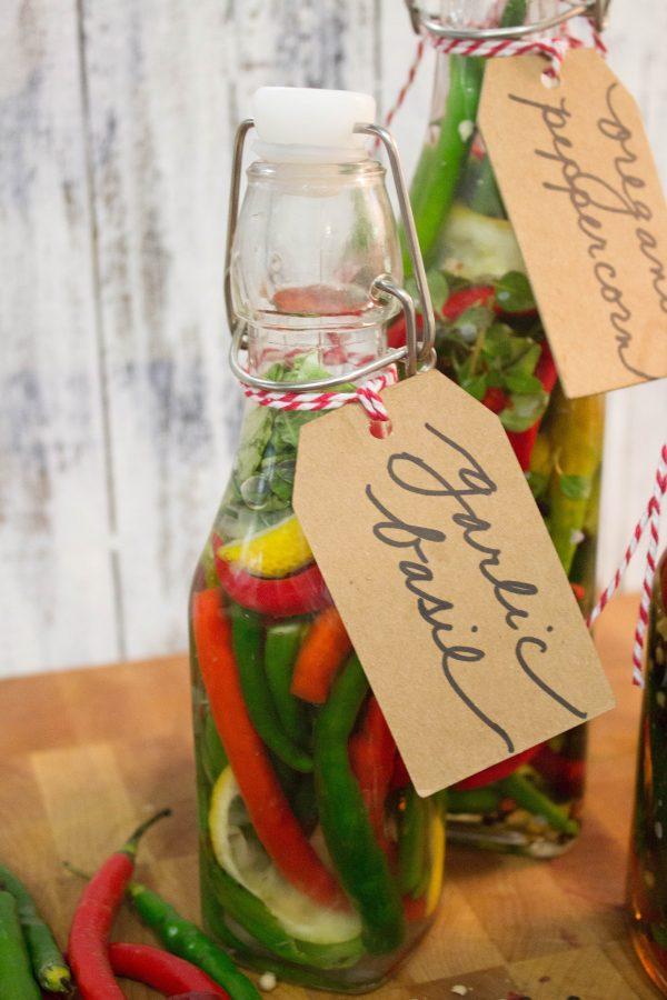 making-gourmet-pepper-vinegar | The Everyday Home | www.everydayhomeblog.com