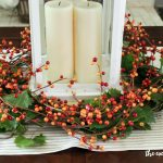 DIY Lantern Berry Wreath