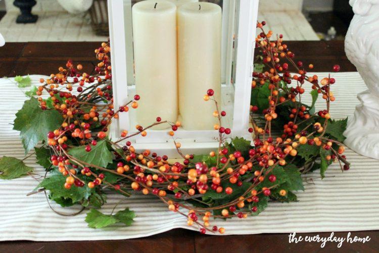 Making-a-Lantern-Berry-Wreath | The Everyday Home | www.everydayhomeblog.com