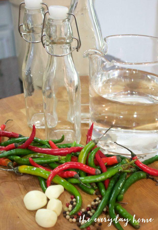 pepper-vinegar-bottles | The Everyday Home | www.everydayhomeblog.com