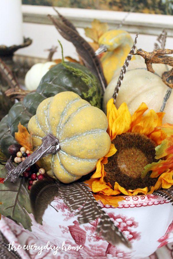 pumpkins-in-a-vintage-tureen | The Everyday Home | www.everydayhomeblog.com