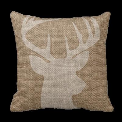 rustic-deer-pillow-cover