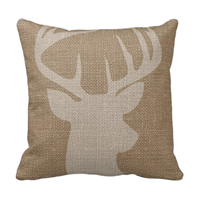 rustic-deer-pillow-cover