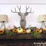 Rustic Fall Mantel