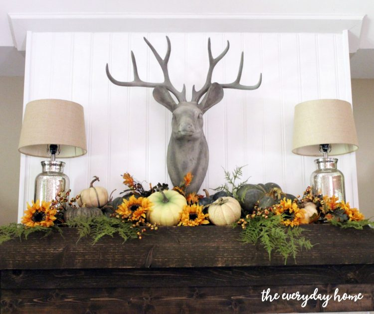 rustic-fall-mantel | The Everyday Home | www.everydayhomeblog.com