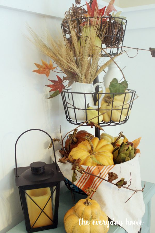 Styling a Fall Metal Tiered Stand   The Everyday Home   www.everydayhomeblog.com