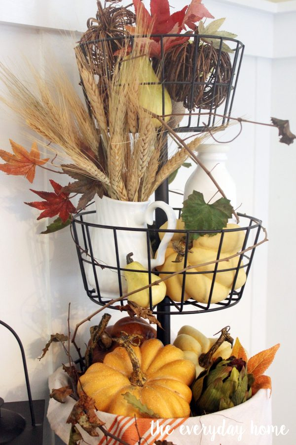 Styling a Fall Tiered Stand   The Everyday Home   www.everydayhomeblog.com