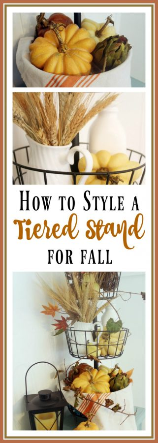 Styling a Tiered Stand for Fall   The Everyday Home   www.everydayhomeblog.com