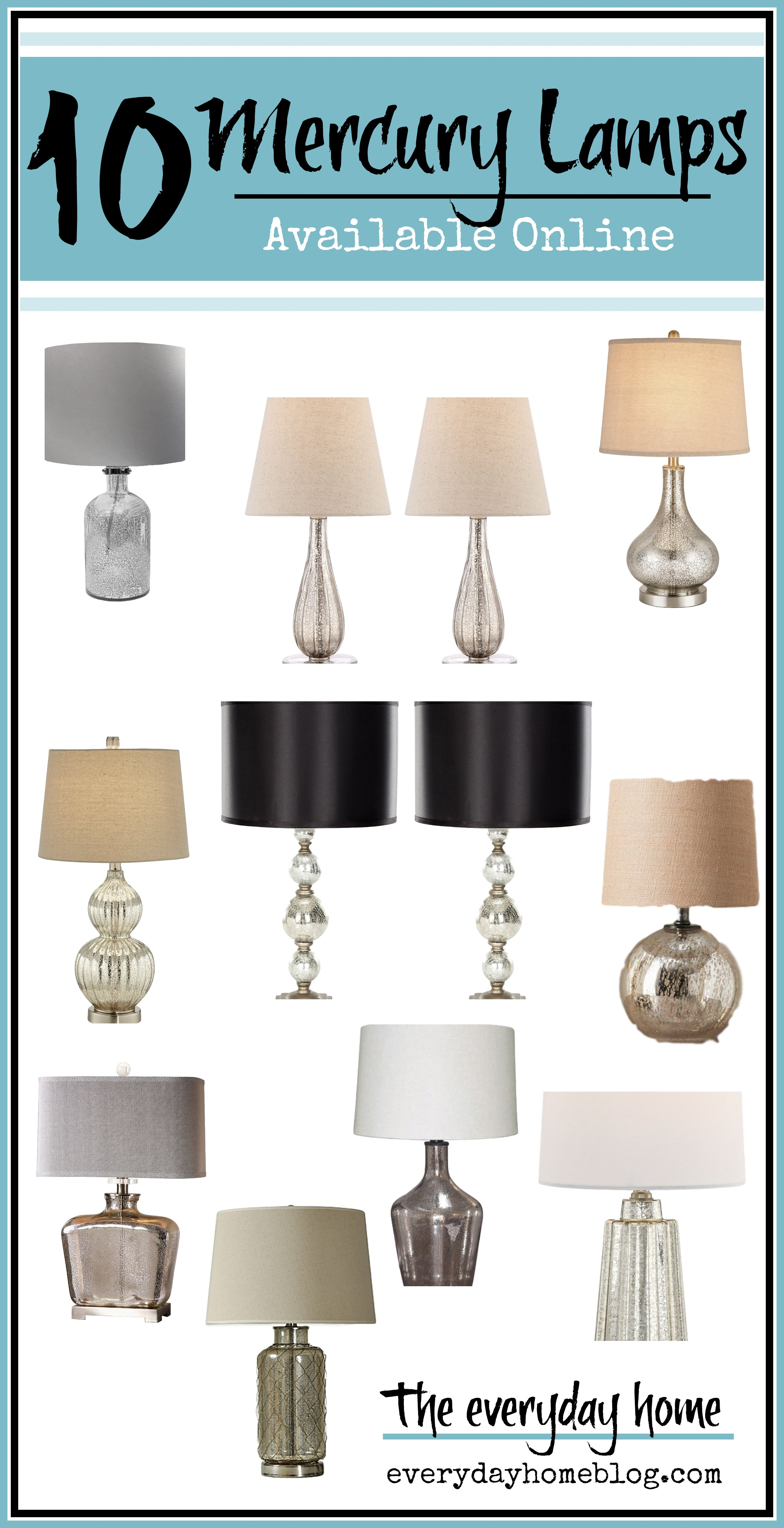 10 Amazing Mercury Lamps Available Online | Shopping Guide | The Everyday Home | www.everydayhomeblog.com