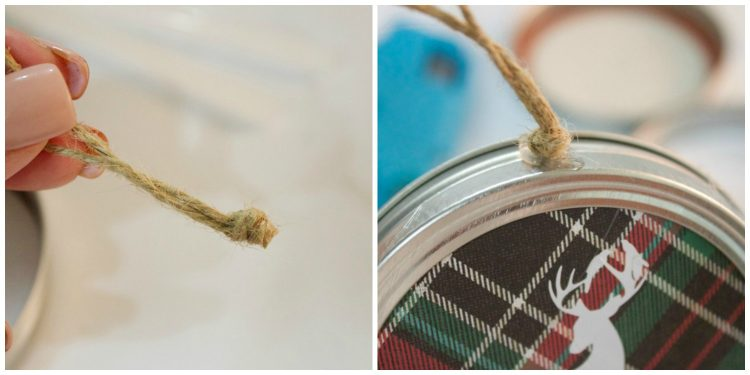 adding-jute-loop-to-christmas-ormament | The Everyday Home | www.everydayhomeblog.com