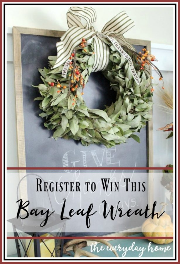 bay-leaf-wreath-giveaway |  The Everyday Home |  www.everydayhomeblog.com