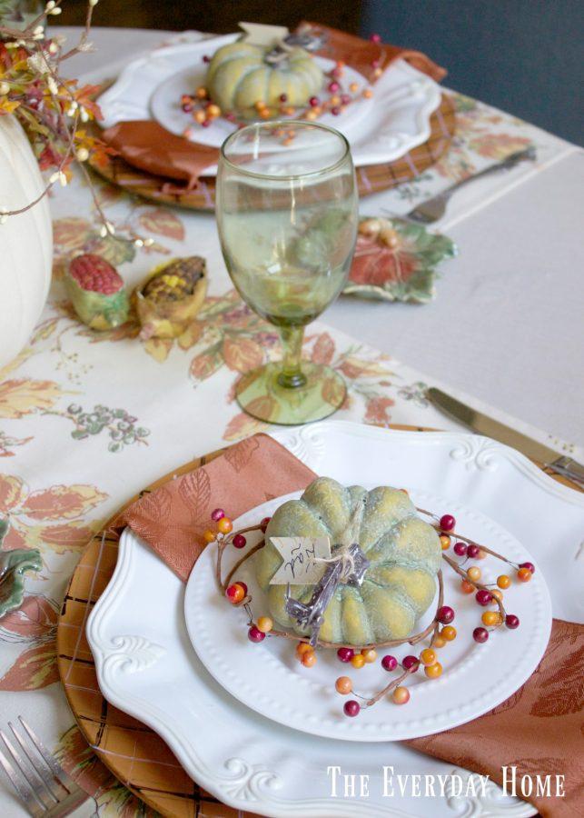 breakfast-room-fall-dishes | The Everyday Home | www.everydayhomeblog.com