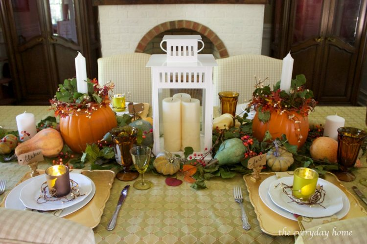 centerpiece-for-a-fall-tablescape | The Everyday Home | www.everydayhomeblog.com