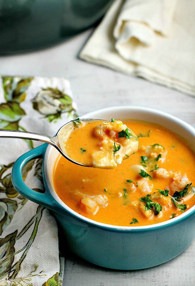 Creamy Tomato Seafood Bisque - A Dish of Daily Life| One More Time Events