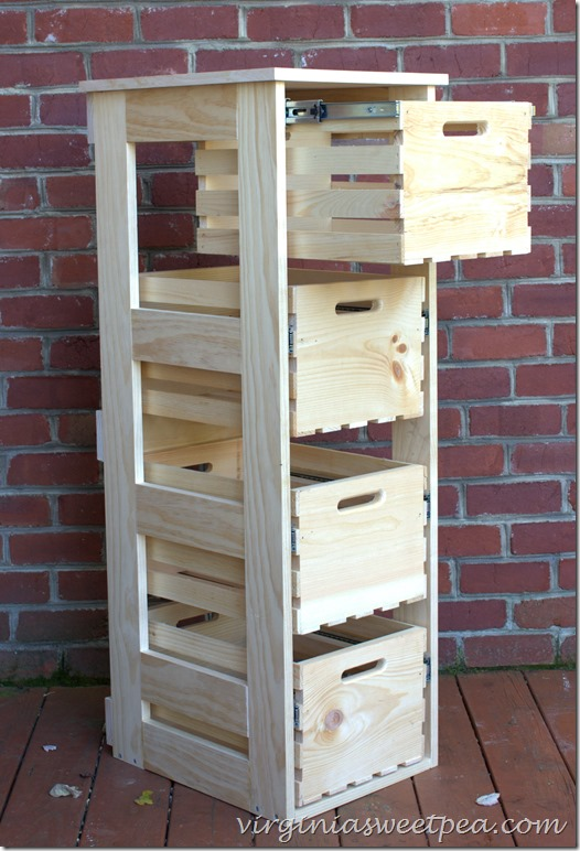 DIY Crate Cabinet - Virginia Sweetpea|One More Time Events