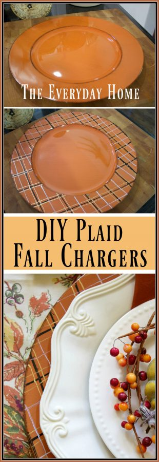 easy-diy-fall-plaid-chargers | The Everyday Home | www.everydayhomeblog.com