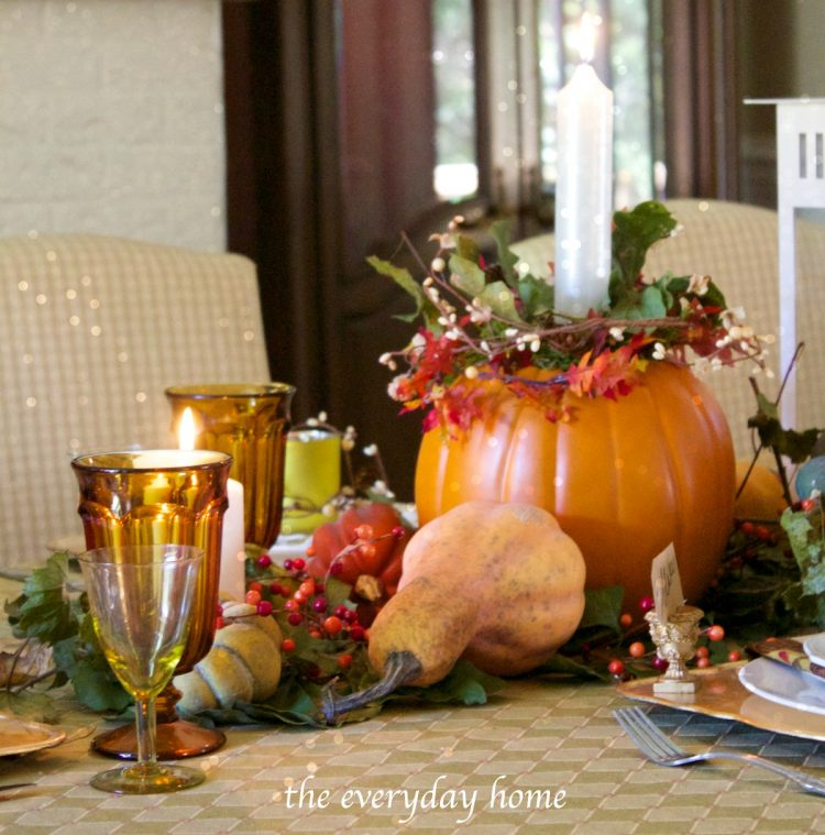 fall-tablescape-by-candlelight |The Everyday Home | www.everydayhomeblog.com