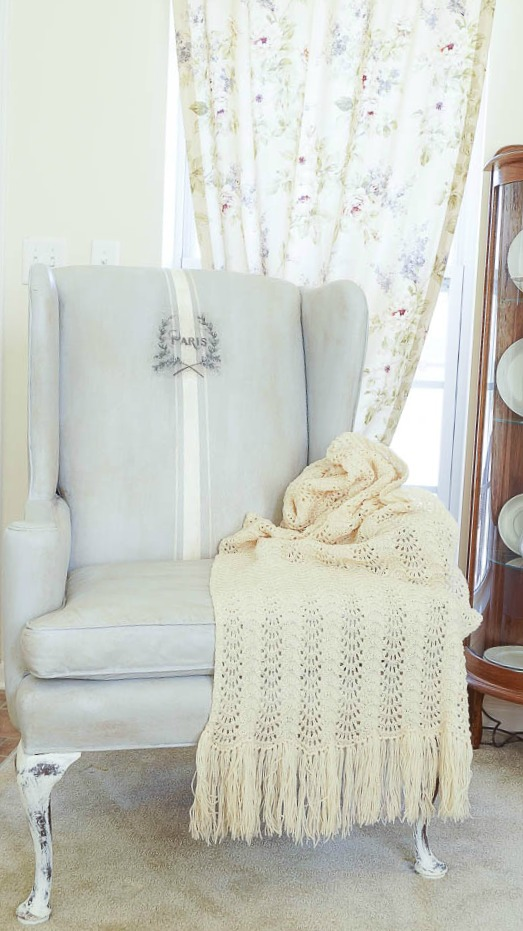 How to Paint a Thrift Store Chair - White Lace Cottage|One More Time Events